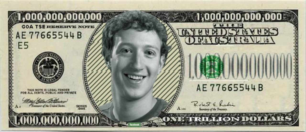 Facebook valuation image